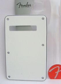 Fender Tremolo Backplate White 3-ply   099-1321-000